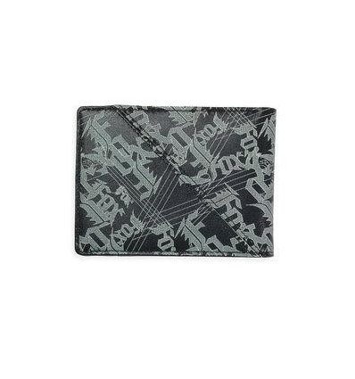 M-E-ACCESSORIES SLIPSTREAM LEATHER WALLET BLACK