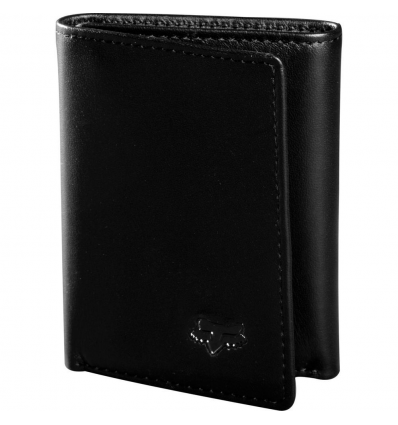 TRIFOLD LEATHER WALLET [BLK]